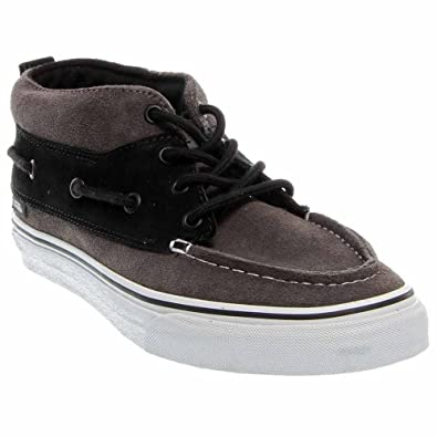 Unisex's VANS CHUKKA BOOT (SUEDE) SKATE SHOES (PEWTER/BLACK)