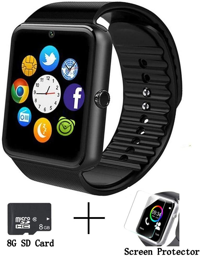beaulyn GT08 Bluetooth Smart Watch for Android Phones,Smart Watch with SIM Card Slot,Call,Massage,for iOS iPhone and Android Phones Samsung ZTE Sony ...