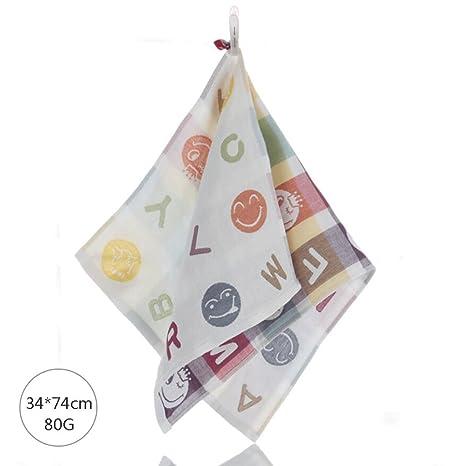 ZLR Toalla de algodón pura de cuatro capas con toalla de gasa de dibujos animados (