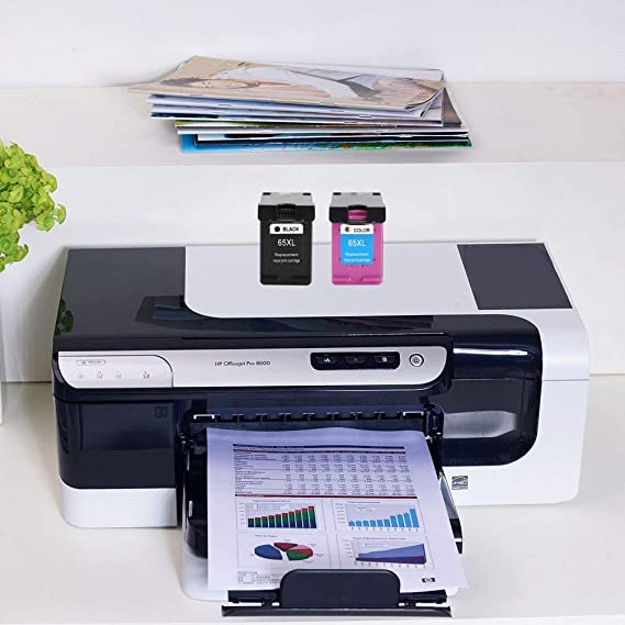 Wenwenzui - Cartucho de Tinta para HP 65XL HP 65 para Impresora ...
