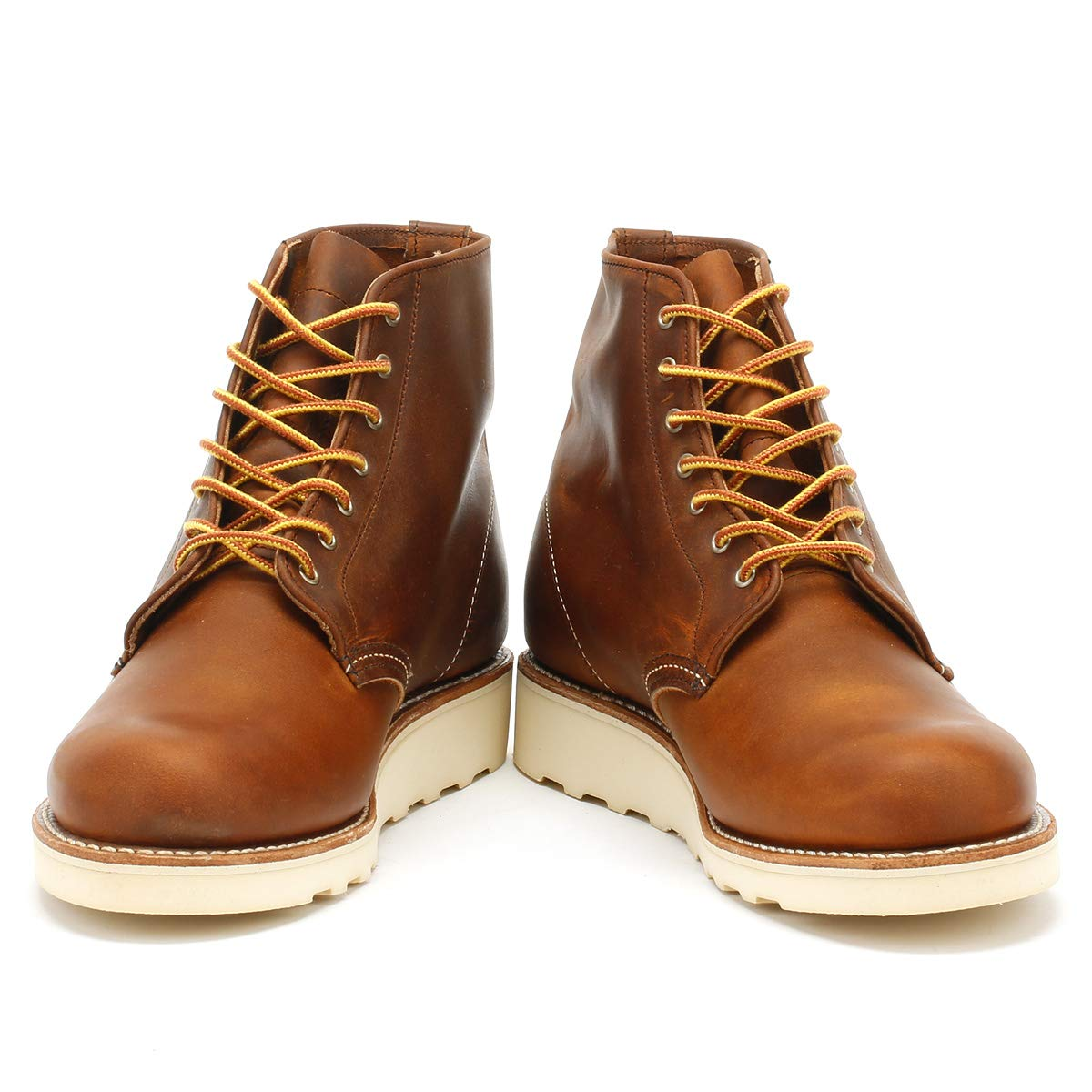 Rot Wing Schuhe Schuhe Schuhe Round Toe Braun Copper Damen Stiefel-UK 7 2cabcd