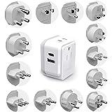 Ceptics International Travel Plug Adapter Set (Type A, B, C, D, E/F, G, H, I, J, K, L, M, N) - 4 in 1 - 2 Canadian…