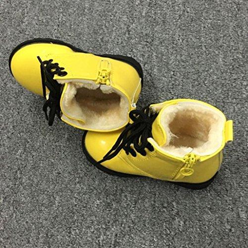 Tefamore Calzado Niña de Invierno Soft Sole de Algodón para Bebés Amarillo