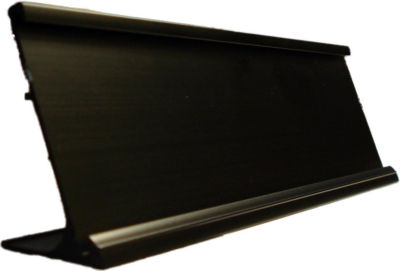 """2"""" x 8"""" Black Nameplate Desk Holder"""
