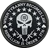(US) Patch Squad Men's Three Percent Tyranny Punisher Liberty Morale Patch (Black/White)