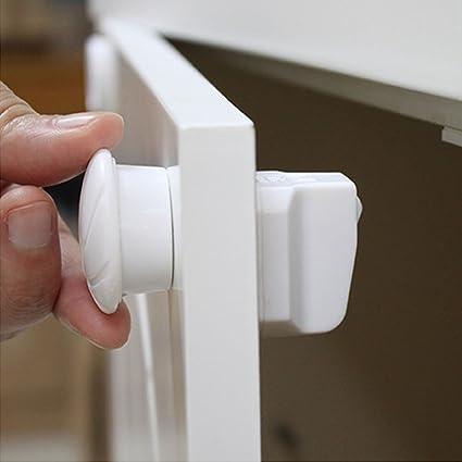 Cierres magnéticos para armario de seguridad para niños, no requiere taladro, fácil de instalar