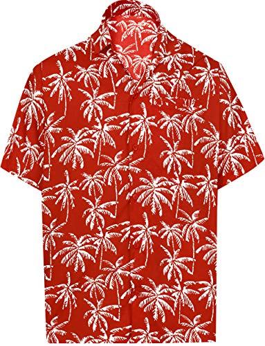 - LA LEELA Tropical Shirt for Men Front Pocket 5XL | Chest 66