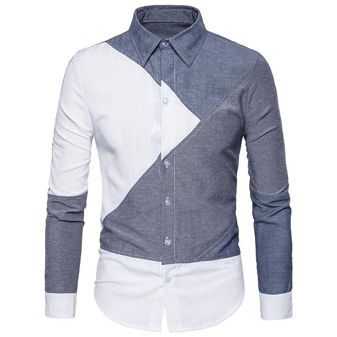 502f55f825e Winwintom -Camisas Hombre Camisas Hombre,Camisa Casual Manga con Botones  Camisa De Hombre Camisa