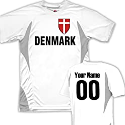7697a65e9cb Custom Denmark Soccer Jersey Personalized with Your Names and Numbers