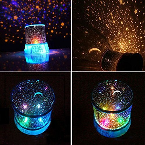 LED Cosmos Star Master Sky Starry Night Light Lampe Projektor Space Solar System (mit USB-Kabel) blau