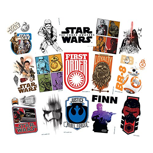 Star Wars The Force Awakens Temporary Tattoos (Set of 15 Sheets) (Includes BB-8, Finn, Rey, and Kylo (Star Wars Tattoos)