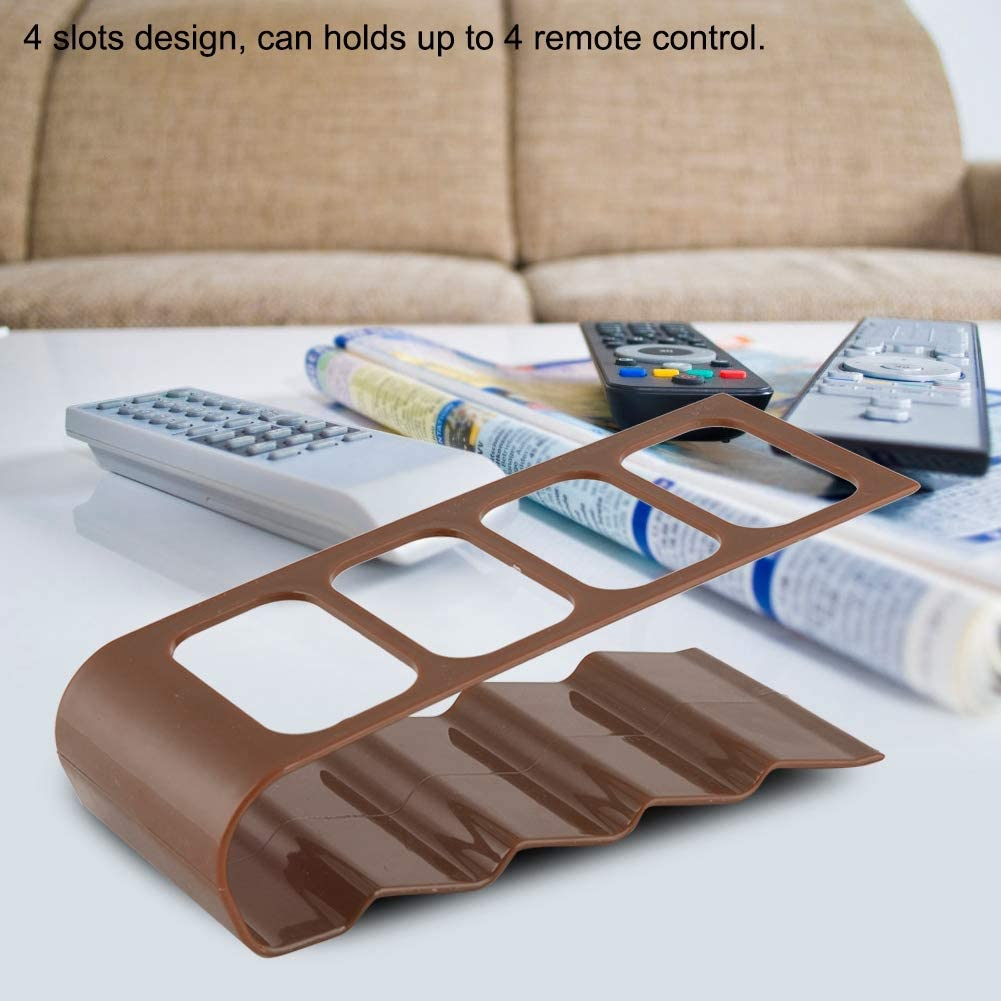4 Slot TV AC VCR Remote Control Organizing Rack Holder Stand For Home Black BR