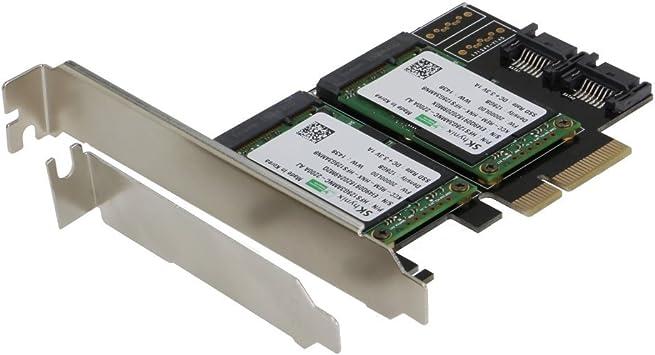 SEDNA – PCIE Dual mSATA SSD Raid Adaptador con 2 Puertos SATA III ...