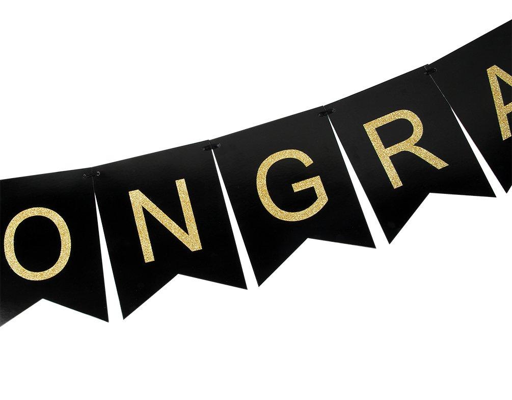 Amazon.com: innoru Felicitaciones Congrats Banner – Letras ...
