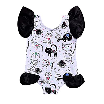TAOHJS97 Baby Girls Cancer Dive Short Sleeve Climbing Clothes Bodysuits Suit 6-24 Months