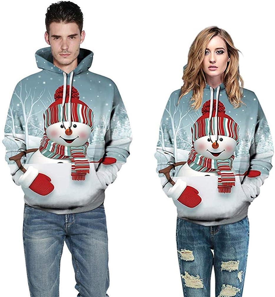 Women Ugly Christmas Hoodie Hooded Sweatshirt Unisex Printed Pullover Sweater