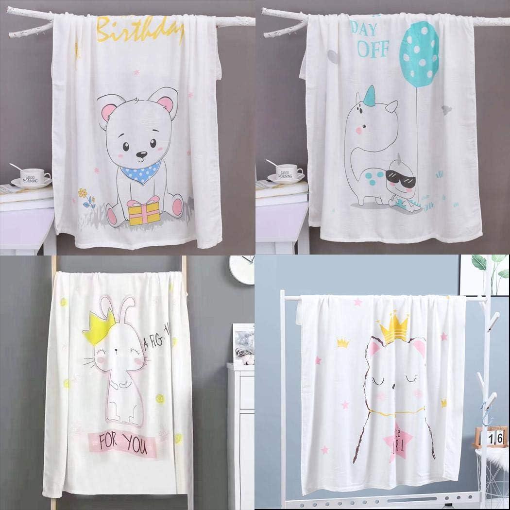 Sivane Nuove Neonate e Ragazzi Gli Asciugamani da Bagno Animali Belli stampano la Coperta Calda del Bambino Coperte