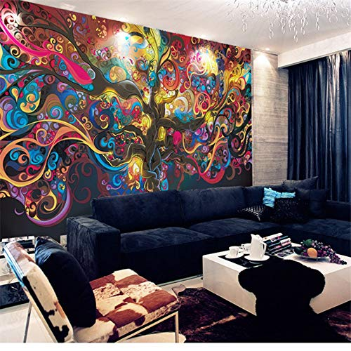 TV Background Wallpaper Abstract Custom 3D Stereo Seamless Large Mural Tree of Life, 300210cm ()