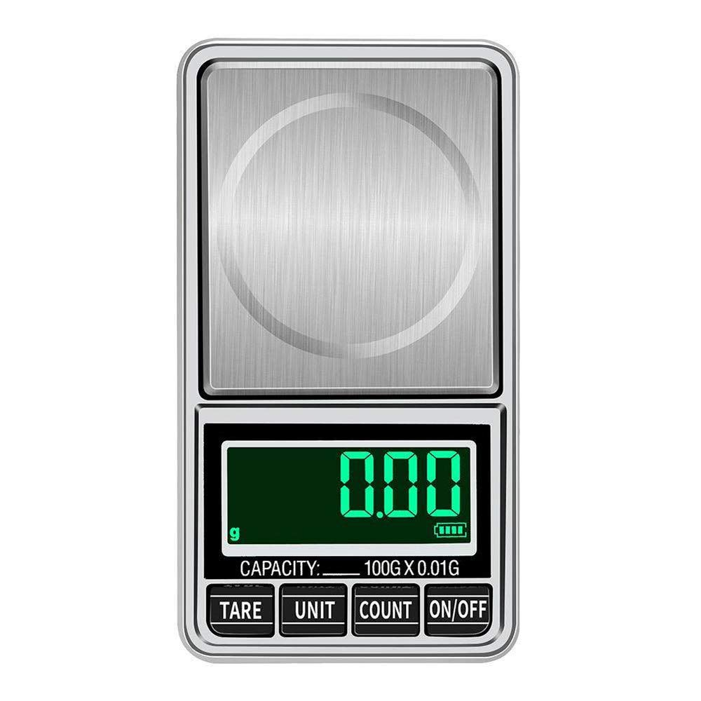 Digital Jewelry Scale 300g/0.01g Mini LCD Pocket Digital Weight Mini Precision Balance USB Powered LCD Display 7 Units can be Switched Weighing Scale