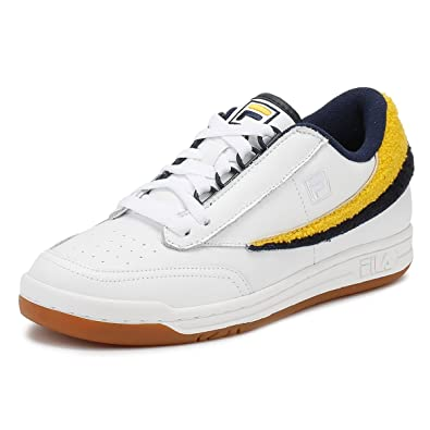 31aadabfc9d1 Fila Mens White Original Tennis Varsity Trainers-UK 11  Amazon.co.uk ...