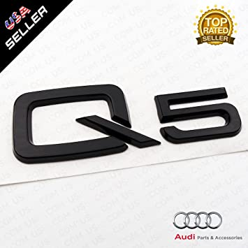 Amazon.com: us85 OEM ABS placa Audi Q5 Negro Brillante ...