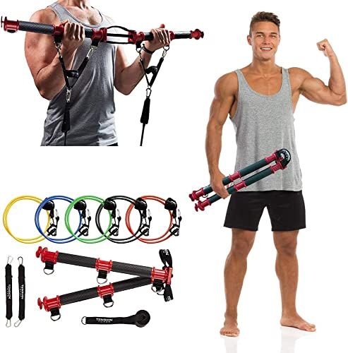 TENSION TONER - Patented Home Gym - Best Portable Full Body Workout - Exercises Stabilizer and Pulling Muscles