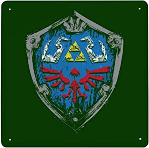 Hylian Shield Paint Legend Of Zelda Tin Sign Metal Iron Wall Painting Sign Retro Porch Hanging Warning Sign House Wall Decoration Signboard