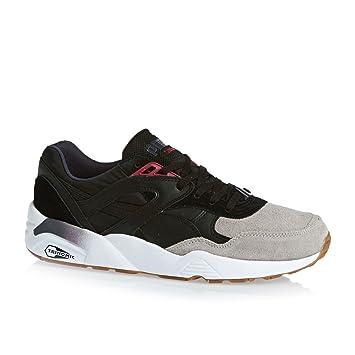 meilleur site web 38809 8d795 Puma R698 BLOCKED Black Grey Leather Men Sneakers Shoes ...