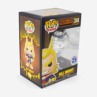 Funko Pop! 2020 NYCC Exclusive All Might (Silver-Chrome) My Hero Academia: Toys & Games