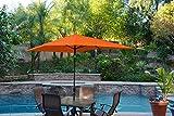 Cheap Jeco UBP61-UBF69 Aluminum Patio Market Umbrella Tilt, 6.5′ x 10′, Orange