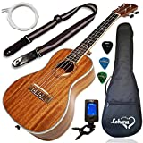 Ukulele Concert Size Bundle From Lohanu (LU-C) 2 Strap Pins Installed FREE Uke Strap Case Tuner 2 Picks A Pick Holder Aquila Strings Installed Free Video Lessons BEST UKULELE BUNDLE DEAL Purchase Today!