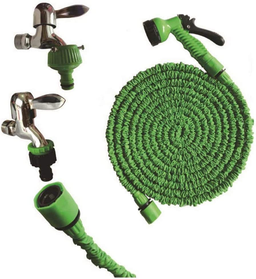 Magic Expandable Garden Hose Green,25ft Length, 7.5m No Kink Water Hose Flexible Stretch Water Pipe for Home Lawn Car with Professional Water Spray Nozzle 25ft//50ft//70ft//100ft Injection