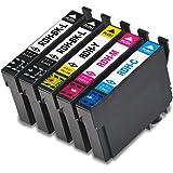 【1年保証付】EPSON エプソン 互換インク RDH-4CL 4色セット+1個ブラック RDHBKL 大容量タイプ(計5個入り)対応機種: PX-048A PX-049A