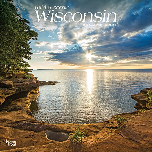 Wisconsin, Wild & Scenic 2019 12 x 12 Inch Monthly Square Wall Calendar, USA United States of America Midwest State Nature (Multilingual Edition)