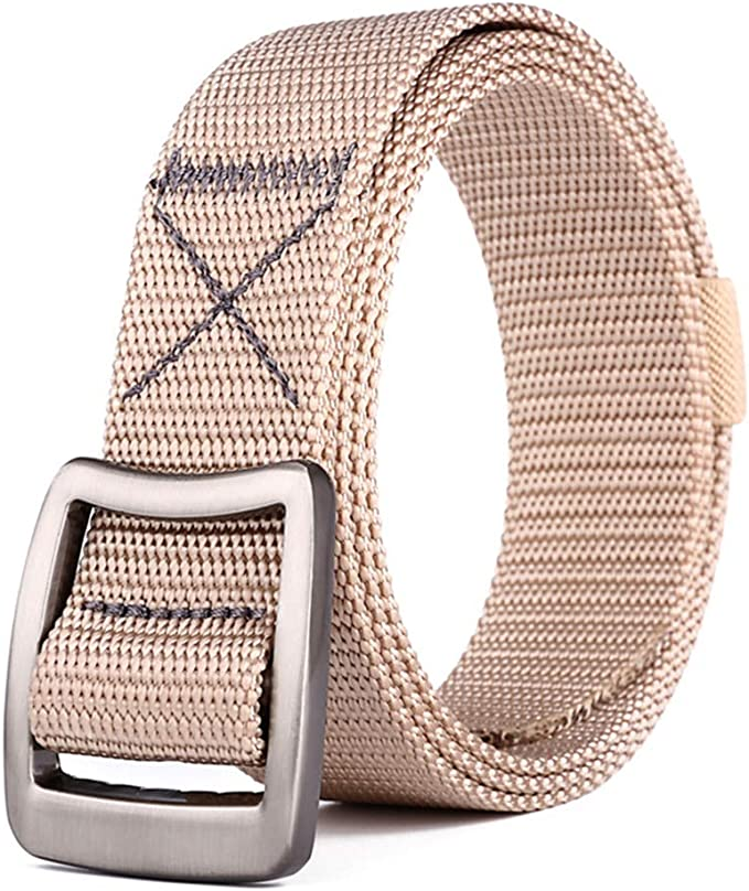 DAZISEN Elastic Outdoor Leisure Belts Mens Nylon Webbing Waist Belt