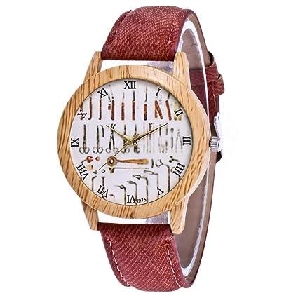 Dkings 8 Colores Reloj de Cuero de Las Mujeres, Fashion Casual DRSS Cronógrafo Cuarzo Reloj