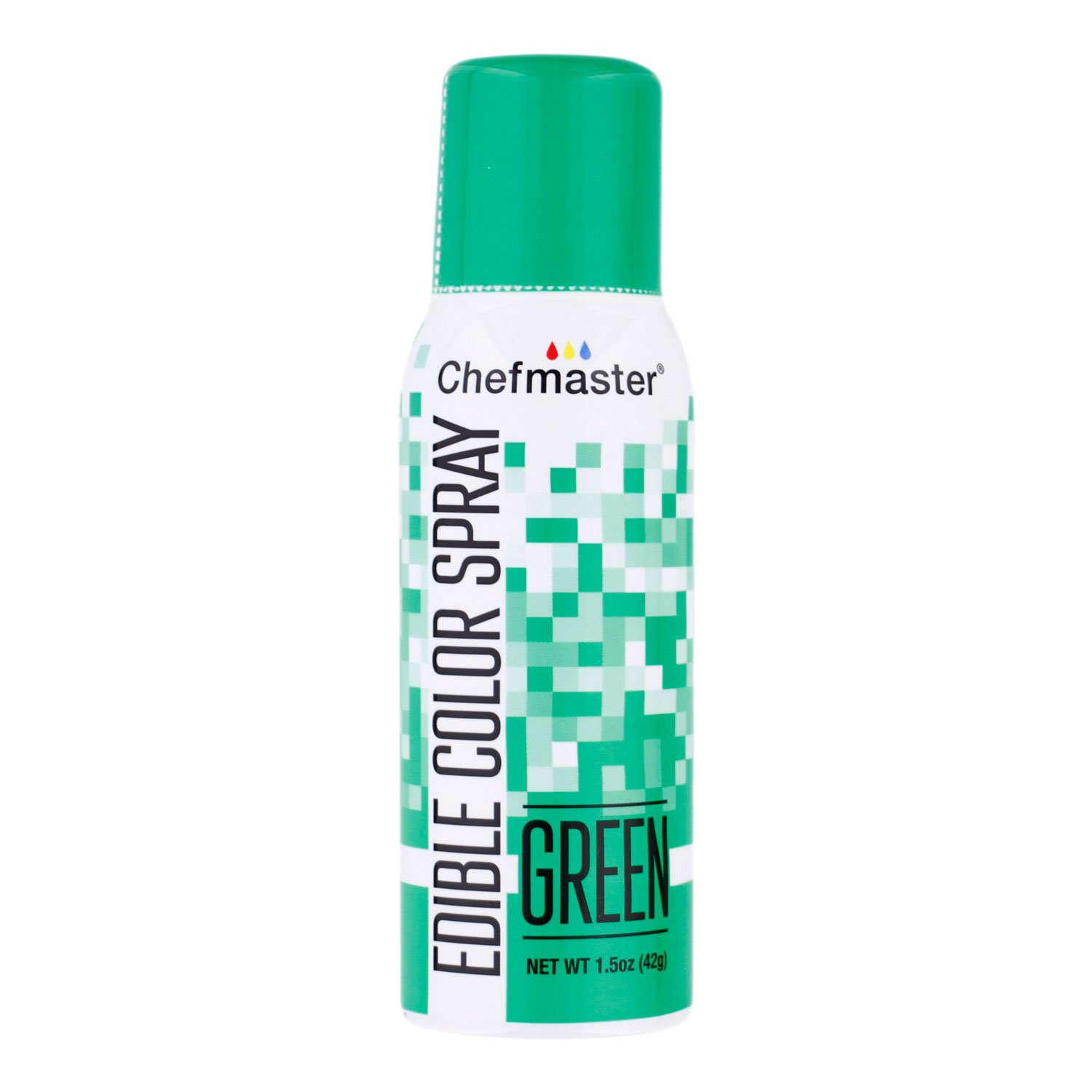 Chefmaster Green Edible Spray Paint 1.5 Ounces by Chefmaster