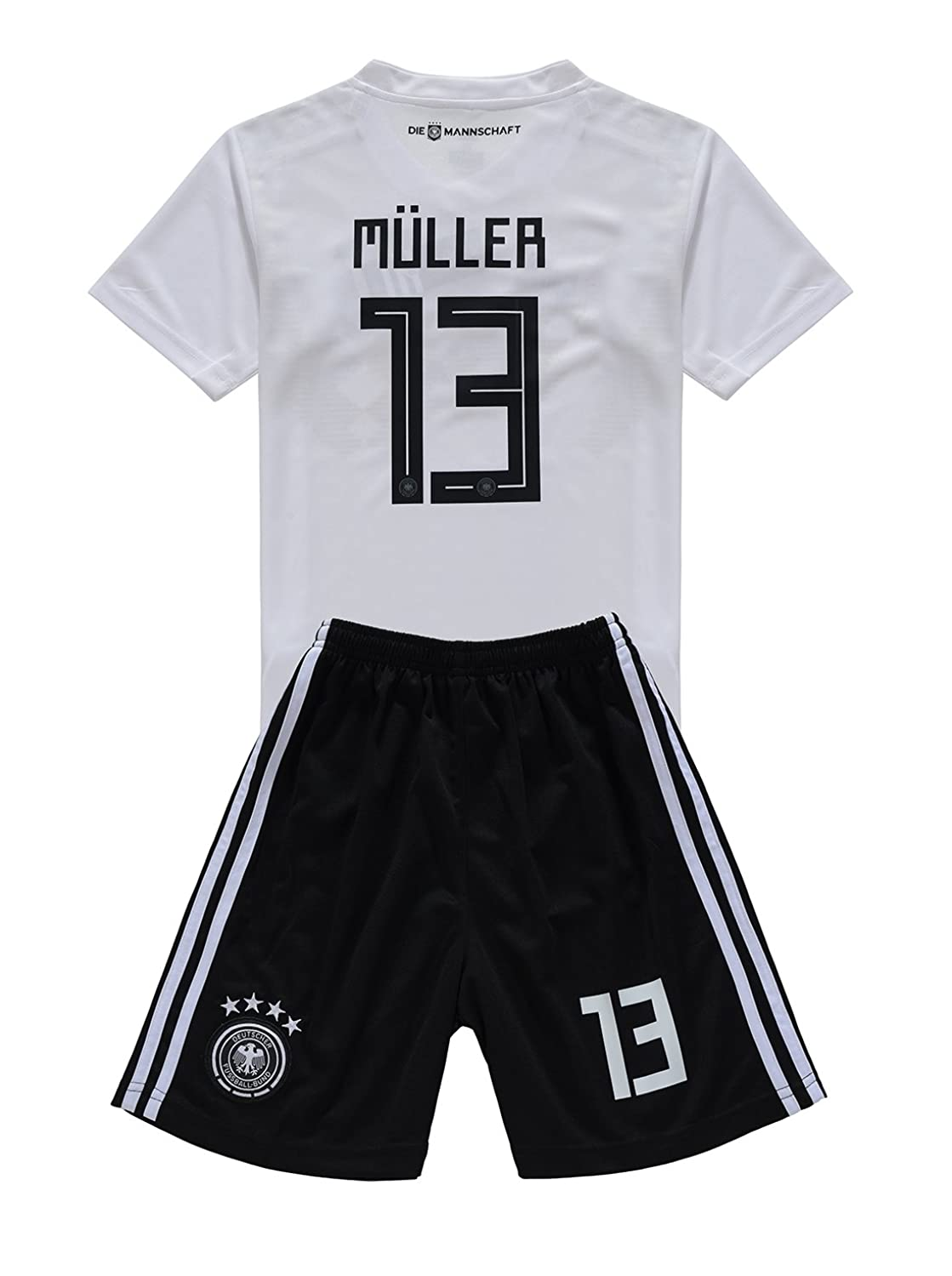 Brookenry 2018 Muller Germany 13 Kids/Youths Home Soccer Jersey Shorts free shipping