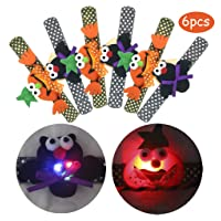Deals on 6-Pack Halloween Light Up Slap Bracelets