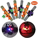 6-Pack Halloween Light Up Slap Bracelets