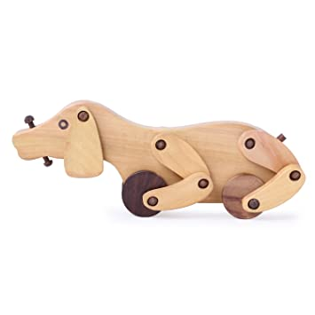 6262d723ca6 BEST SHOP Wooden Handicraft Wheel Baby Toy Dog N15  Amazon.in  Home    Kitchen