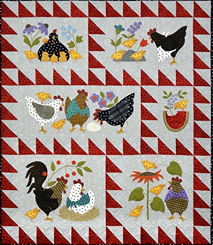 Bonnie Sullivan Woolies Flannel Here a Chick, There a Chick Quilt Kit Maywood Studi by Maywood Studio