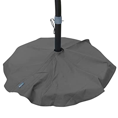 Duraviva Outdoor Patio Umbrella Base Stand Weatherproof Layover Cover - Waterproof, Easy-to-Use Quick Fastener Design - Fits Bases up to 36 inch in Diameter : Garden & Outdoor