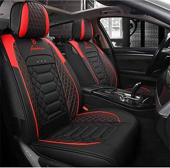 Black Red Trax Car Seat Covers Cover Set For Audi Q3 2011 On