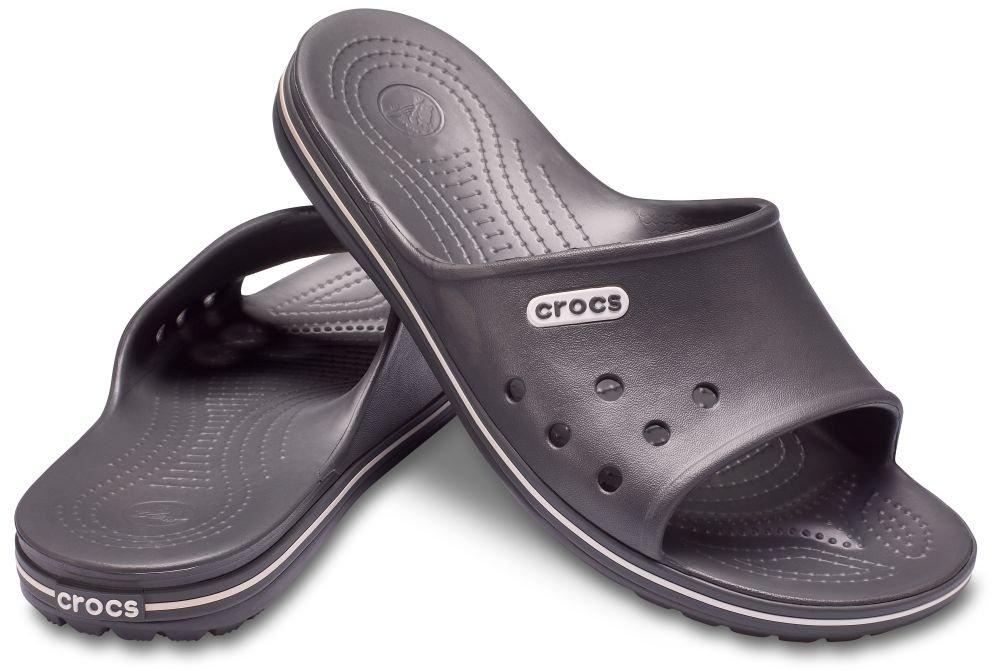 Crocs Unisex Adult Crocband 2 Slide Sandals, Grey (Slate Grey/White), M5/W6 UK (38-39 EU)