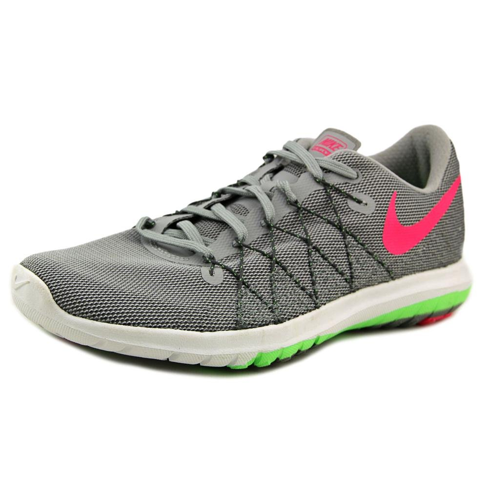 061dae2febf66 Galleon - Nike Women s Flex Fury 2 Running Shoe Wolf Grey Voltage  Green Grey Pink Size 9 M US