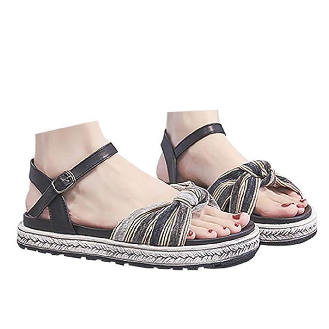 66aa87e1ffba0 Veodhekai Womens Thick Bottom Wedge Sandals Retro Roman Sandals Open ...