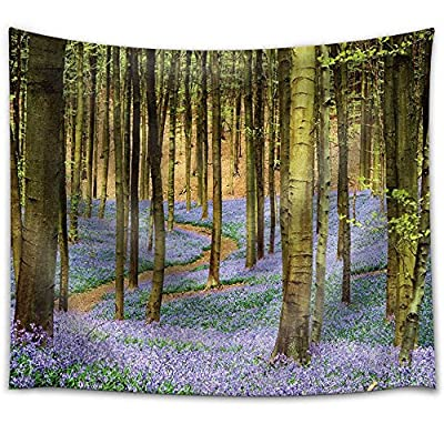 With Expert Quality, Lovely Handicraft, Purple Flower Field in a Forest Filled with Trees