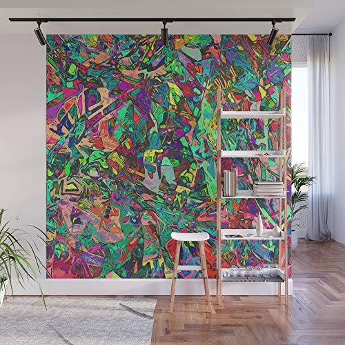 Fabric Paintbox (Society6 Wall Mural, 8' X 8', Paintbox by amostpeculiar)