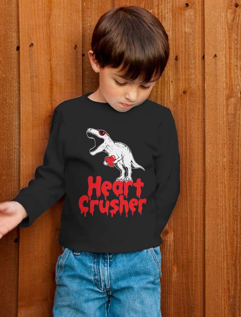 Heart Crusher T-Rex Love Toddler/Kids Long Sleeve T-Shirt